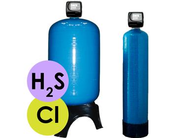 вугільний фільтр для очистки води від сірководню і хлору